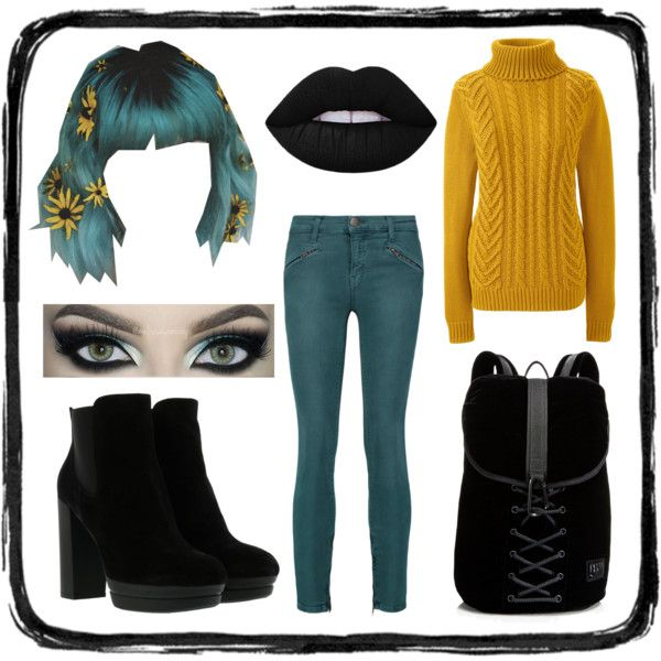 Untitled #3 by pastellilapsi on Polyvore featuring Lands' End, Current/Elliott, Hogan, Puma and Lime Crime