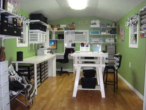 small, cute craft space <3
