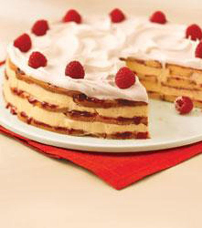 White Chocolate-Raspberry Trifle Cake | Desserts with Fruit | Pintere ...