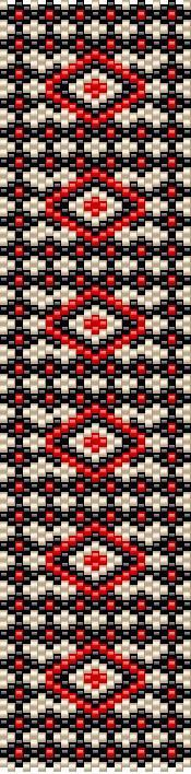 Today's pattern - odd count peyote, versatile pattern that can be achieved with different colors. If you would like to have the PDF, feel free to contact me :):