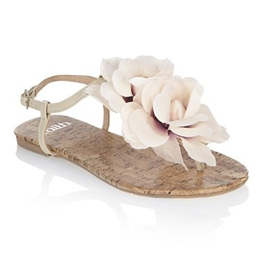 instead of heels quite fab to have sandals with flowers like these