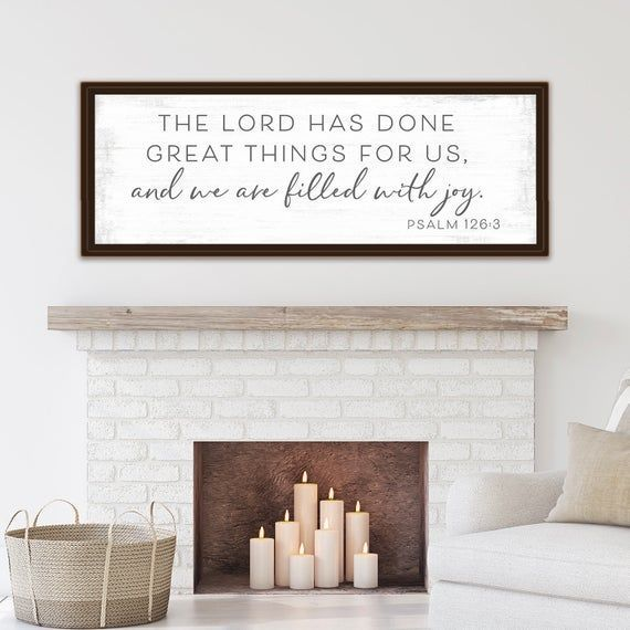 Things Great Lord Done Etsythe Lord Has Done Great Things For Us Etsy In 2020 Christian Room Decor Bible Verse Wall Decor Scripture Decor