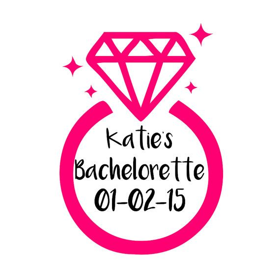 Check Out Personalized Bachelorette Party Wedding Pink Diamond Ring Temporary Tattoos On Fantastictats