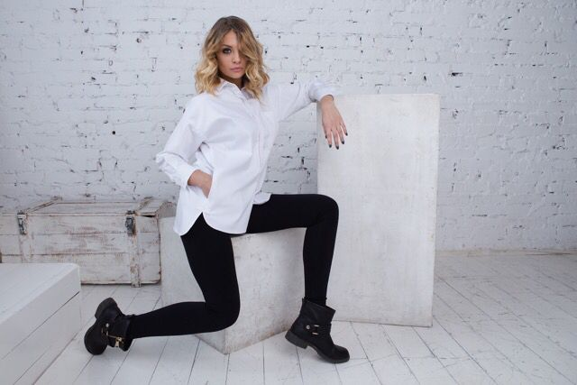 Классическая мужская рубашка обрела модный женский облик ☝️#BK_London #мода #стиль #русскиедизайнеры #fashion