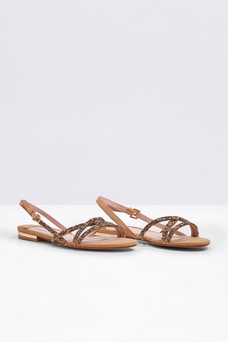 Sandalia cristales | Zapatos | Cortefiel