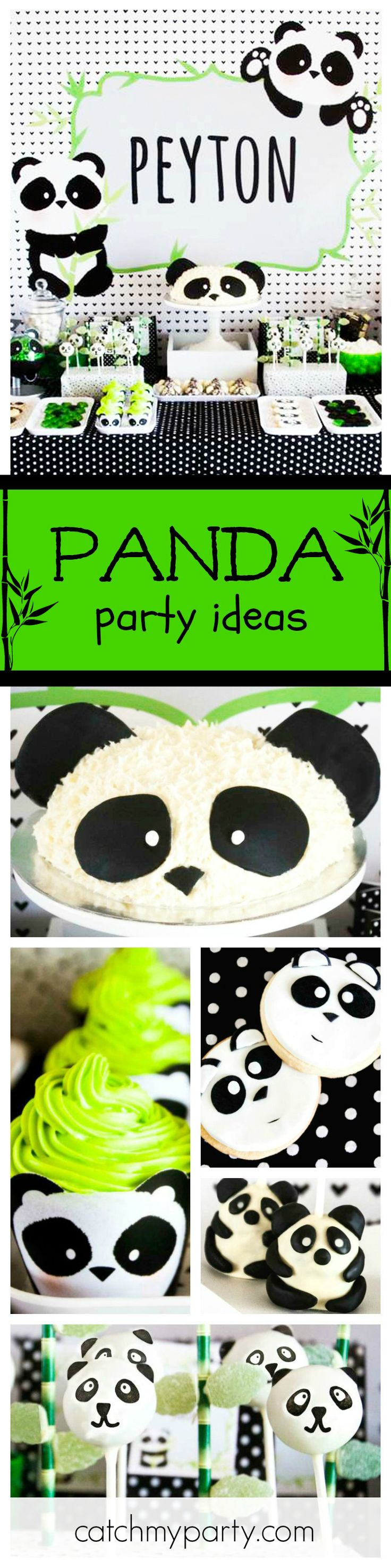 What a cool Panda-monium Birthday Party! The panda inspired cake, cookies, cupcakes and cakepops are all adorable! See more party ideas and share yours at CatchMyParty.com