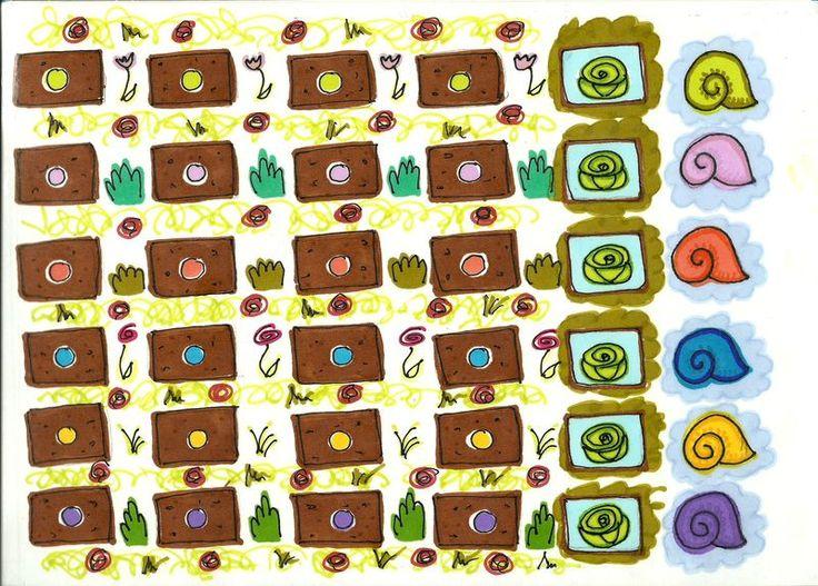 plateau de jeu escargots partie 2 à imprimer en pleine page