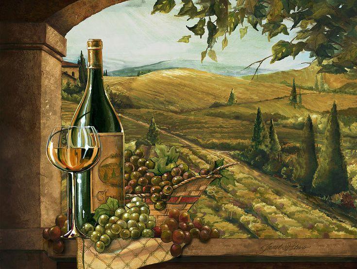 Vineyard Window II Painting
