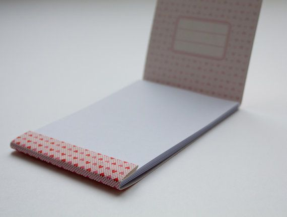 Matchbook notepad Custom notepad Memo pad by vertceriseshop