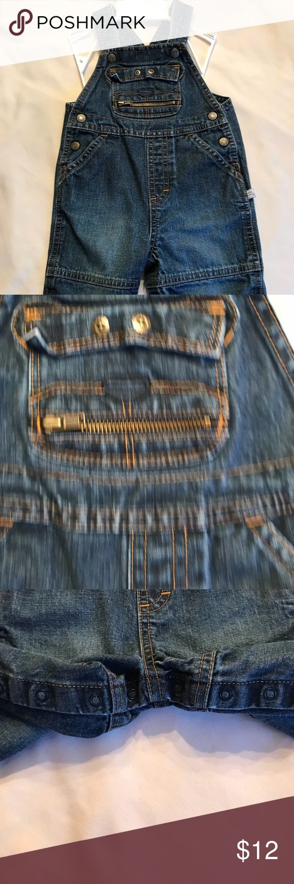 Old Navy Overalls Size 6 to 12 months, denim, snap closure for crotch makes diaper changes easy old navy Other