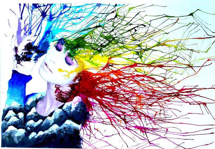 I meccanismi della creatività. Tecnica mista collage+pittura. Allieva: Alice Capuano 3B. Indirizzo arti Figurative. A.S. 2015/2016 Liceo Artistico Stagio Stagi Pietrasanta