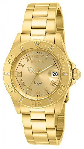 Invicta Women's 14719 Angel Diver Quartz Diamond Accented Bracelet Watch.  Bringing you the best luxury watches online at the most affordable prices for premium brand name watches: http://www.bestwatches1st.com/#!invicta-angel-watch-collection/kb04e