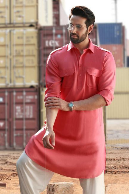 de3ee8fcf Kurta-Blue   Pink-KR421 - Kurtas - Men s Wear