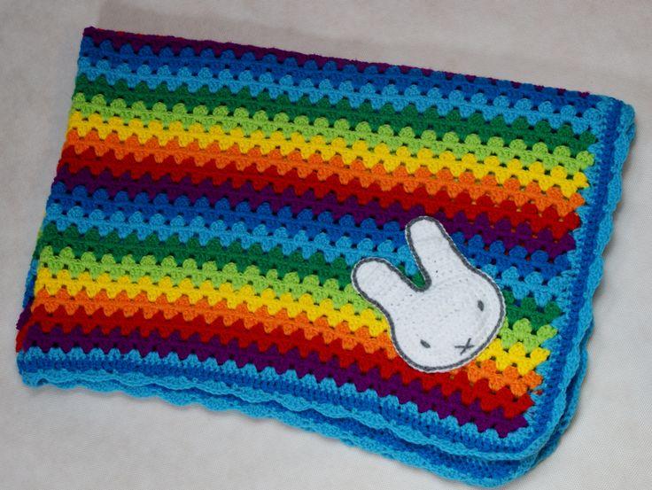 Crochet blanket with MIFFY.