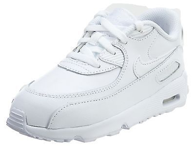 Nike Air Max 90 Leather Td Toddler 833416-100 White Shoes Baby Sneakers  Size 9  b40620c25d666