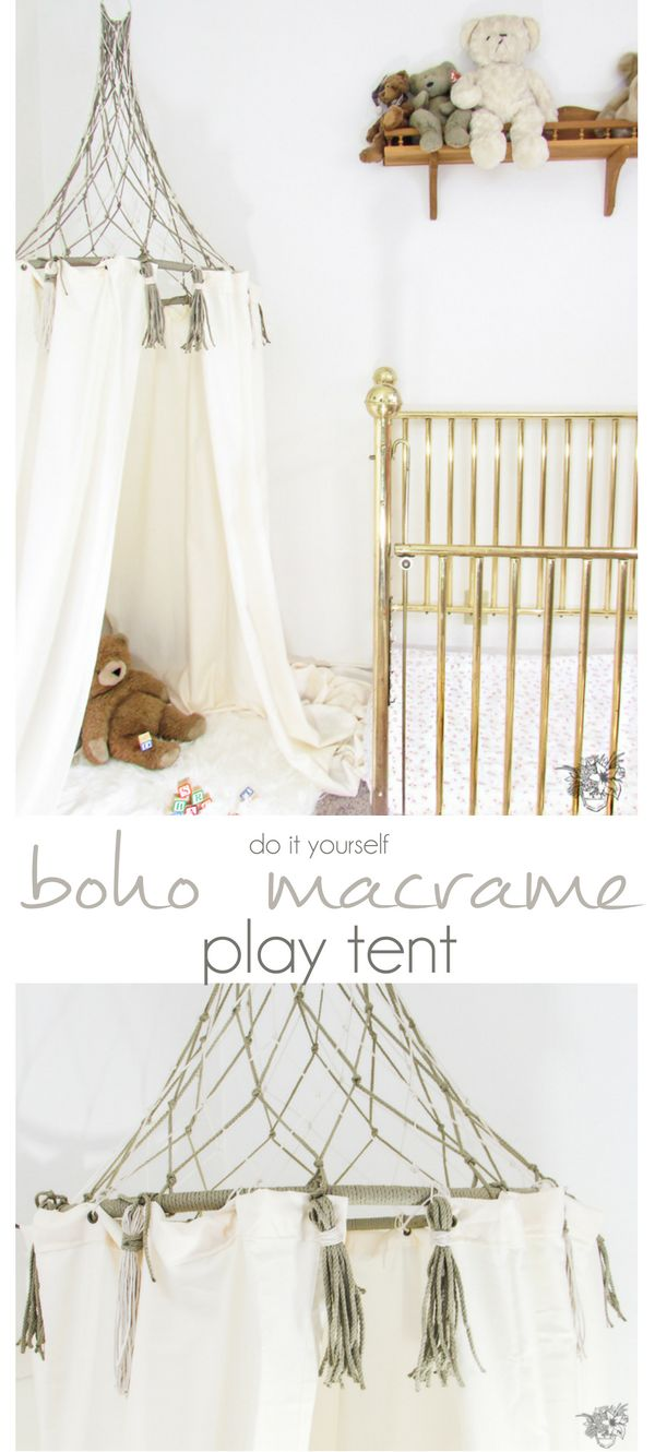 DIY Play Tent, Boho Kids Decor, Bohemian home decor, DIY Play Tent