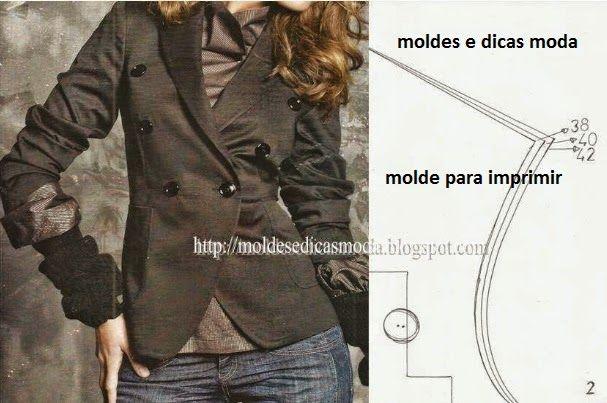 MOLDE DE CASACO DESCONTRAÍDO E CHIQUE - Moldes Moda por Medida