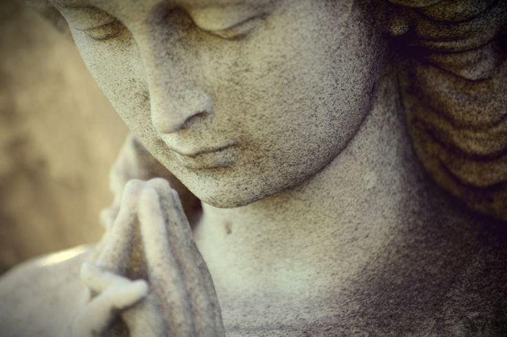 In Prayer; Praying Angel Statue; Evening Light; Fine Art Photography; Custom Orders Available by MissmacMemories on Etsy
