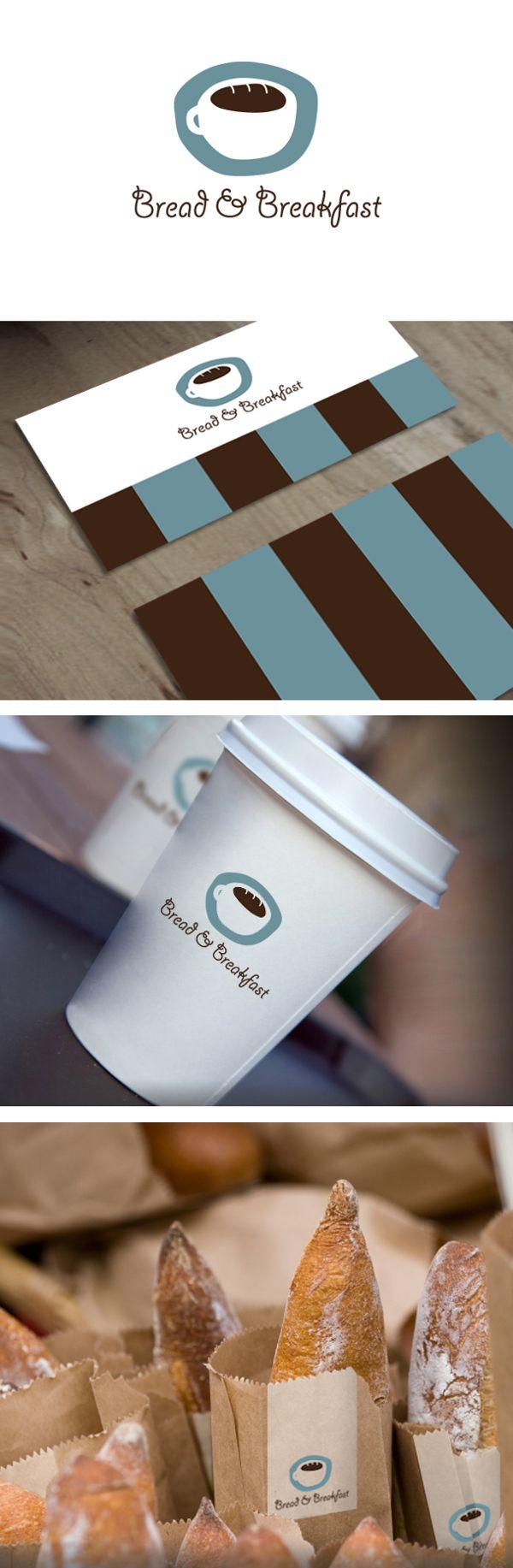 Bread & Breakfast-Bakery & Coffee Shop by Strudel Design , via Behance