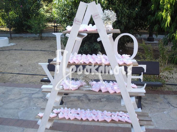 wedding decor with love stairs