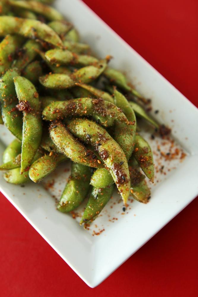 The Chubby Vegetarian: Spicy Edamame + Togarashi