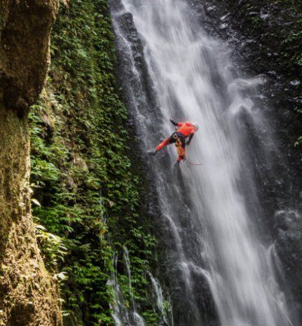 The hills and valleys of the highlands are perfect for canyoning in Bali. On a day long Bali canyoning tour you will abseil down waterfalls, jump from cliffs into deep pools and swim through rapids…