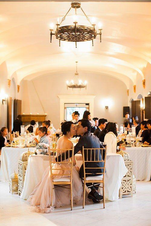 The ballroom at the Villa del Sol d'Oro by Santa Anita Gardens Catering.