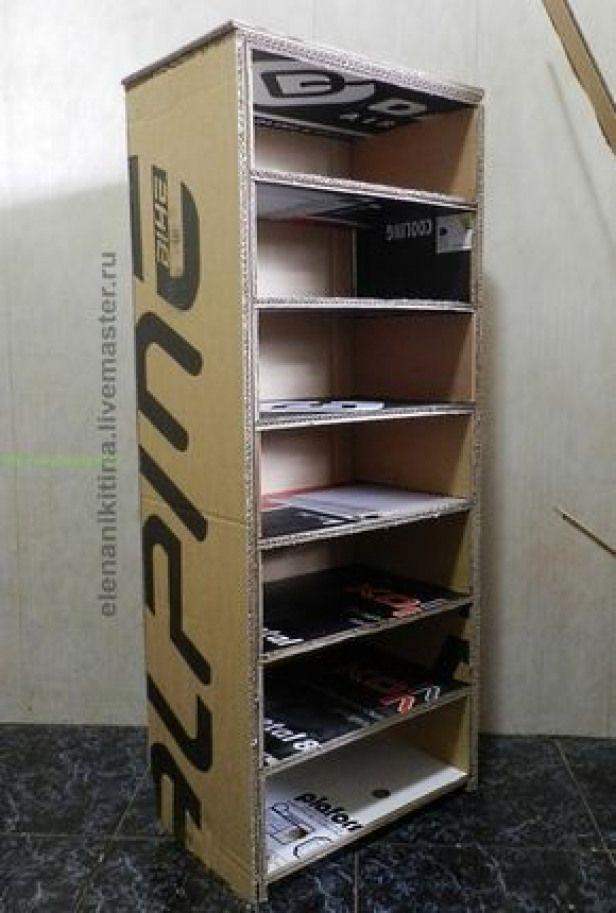 Como Hacer Un Closet Con Cajas De Carton