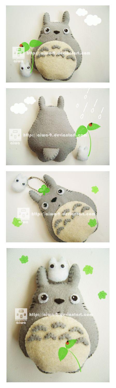 Totoro Plush by aiwa-9.deviantart.com on @deviantART