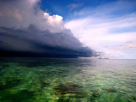Afternoon storm, Raja Ampat