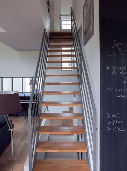 Un escalier chic et sobre