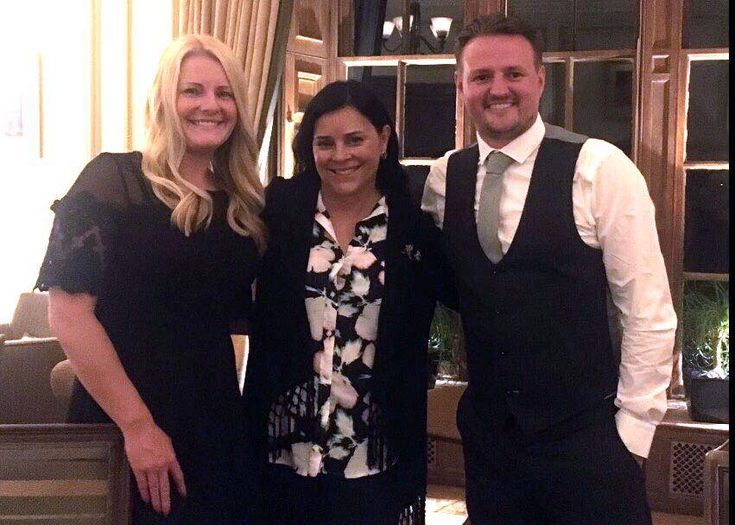 """Actor Scott Kyle and his beautiful wife hanging out with Outlander Author, Diana Gabaldon: Photo by Karen - Diana's Facebook • She also did an interview with The Scottish Sun that day… Excerpt: Diana says of Season 3 filming (and I quote): """"I've seen the first eight episodes … & they're fabulous, really really good, better than either of the 1st - More ..."""