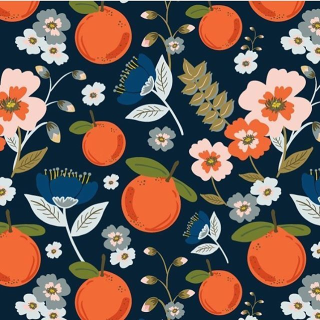Citrus pattern by Teresa Can Rogol #fruit #print #oranges