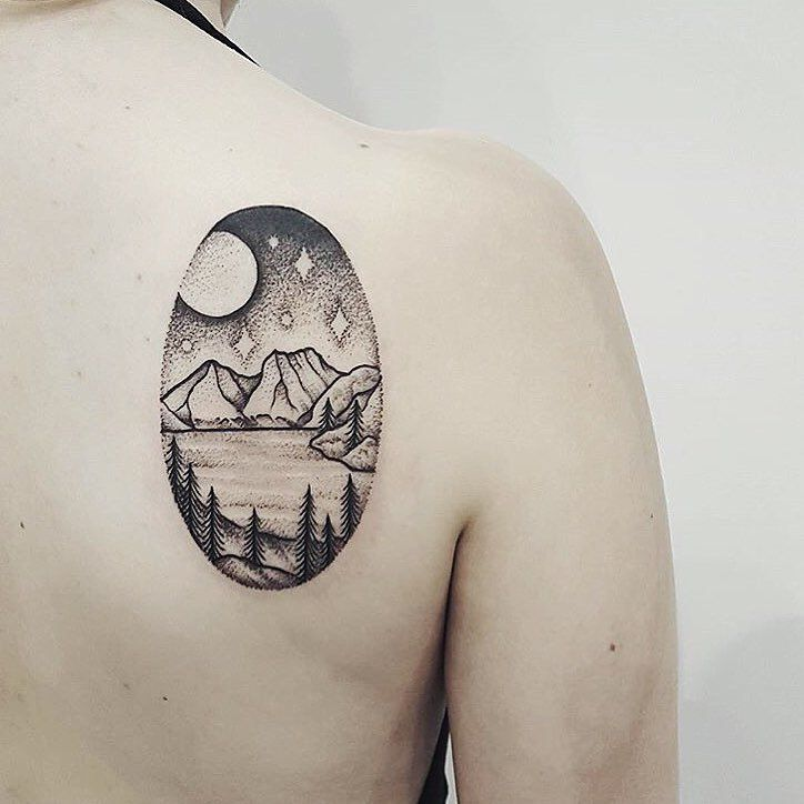 Cradle Mountain Tasmania By Ben Doukakis Of The Darling Parlour Sydney Done At The Australian Tattoo And Body Art Tattoos Body Art Tattoos Australian Tattoo