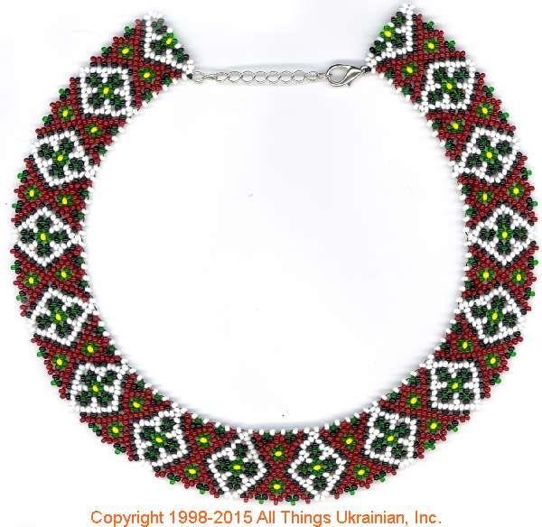 AllThingsUkrainian.com gherdany Bead Jewelry  # GIBN15125