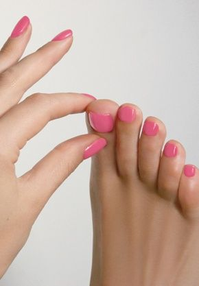 Mão e pé com a mesma cor de esmalte@!