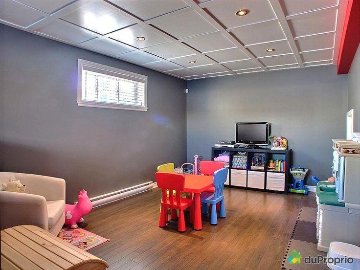 1000 id es propos de plafonds de sous sol sur pinterest for Decoration sous plafond
