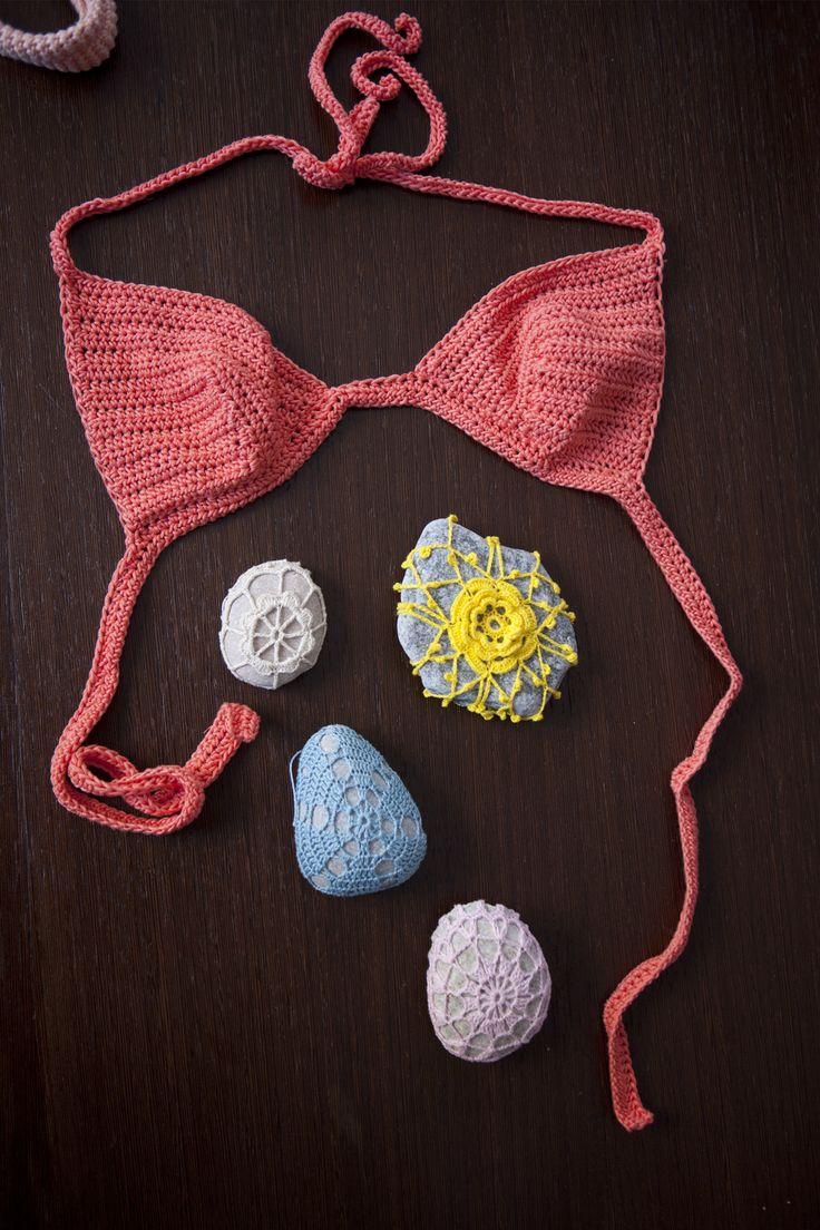 Crochet knitting by THEIA Lab's Crochet teacher, Athena Anagnostopoulou.
