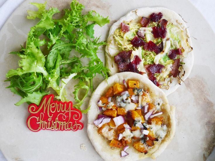 Christmas Mini Pizzas