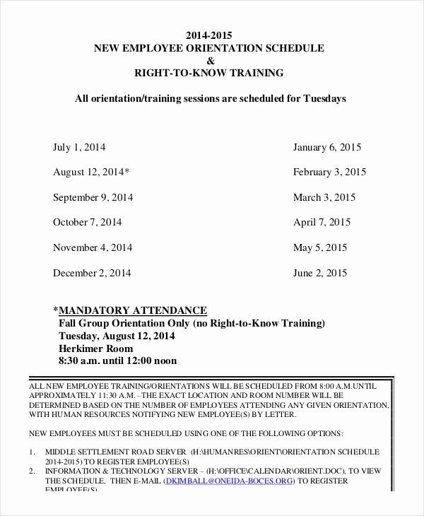 30 New Hire Training Plan Template In 2020 Employee Training