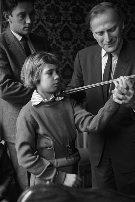 A pupil practises at Yehudi Menuhin's school in a converted hotel