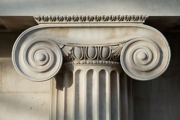 ionic capital used in american greek revival, british greek revival, german greek rivivals