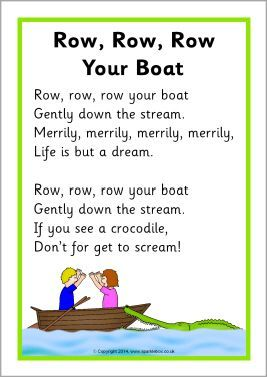 Sb10945 Row Row Row Your Boat Song Sheet Preschool