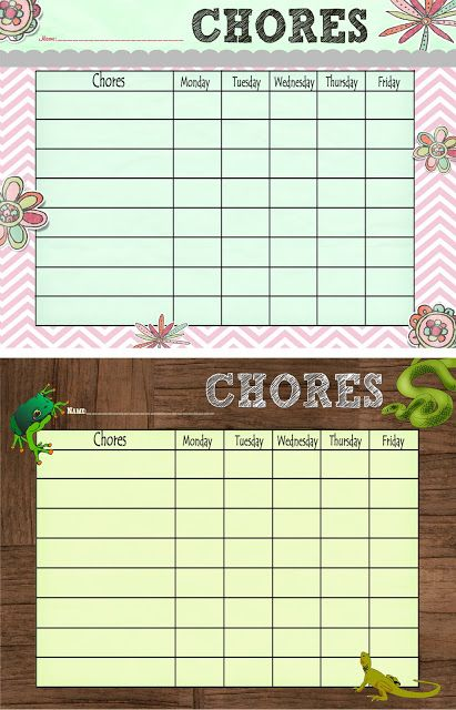 Creatively Quirky at Home: Free Printable Chore Chart! Also earning Girl Scout Daisy Petal Sunny & Mari