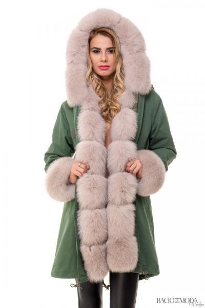 Jacheta By Bacio Di Moda Army Fur COD: 1125 - Baciodimoda.ro