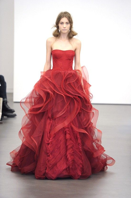 Example Of A Coloured Wedding Dress Though Too Fussy For Me