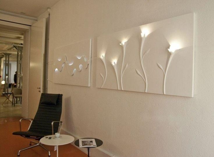 ideas para decorar la pared con luz