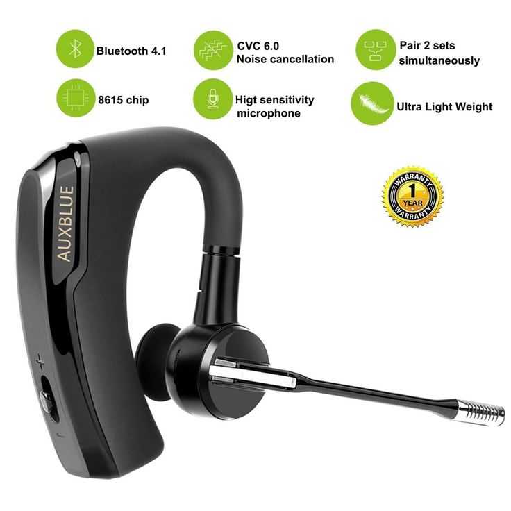 Wireless Bluetooth Headset, Hands Free Wireless Earpiece In-Ear Earphones Noise Reduction Earbuds with Mic for Drivers Talking,Business. High Fidelity Sound: This bluetooth earpiece is equipped with best CSR chip+powerful speaker, ensures maximum signal quality, and guarantees outstanding sound quality.It can provide high-quality stereo audio experience no matter whether listening to music or making a phone call, the effect of sound is perfect. Noise Cancelling: The headphone with Mic…