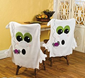 Holidays ❀⊱ℍalloween Decorations⊰❀ Ghost chair cover.  Could do with Santa, snowmen, etc.