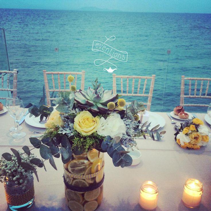 Lemons & flowers for a wedding in Athens! Art de la table, summer wedding, lemon wedding